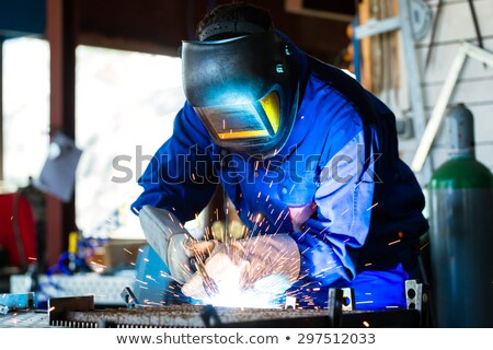 workshop with welder gas bottle stock photo © kzenon