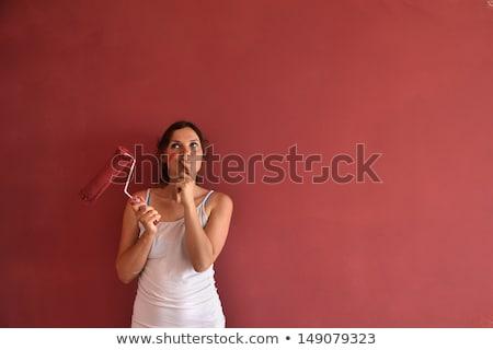 Indeciso reparación mujer sexy femenino trabajador Foto stock © kalozzolak