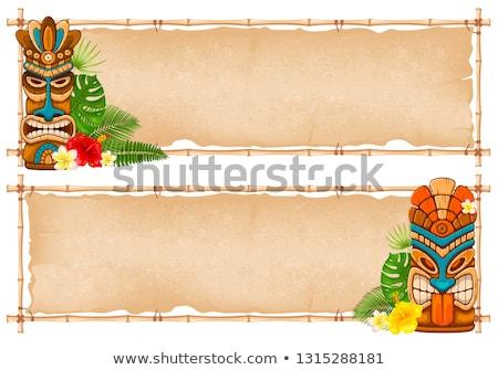 stencil · kleurrijk · illustratie · standbeeld · bladeren · heldere - stockfoto © lenm