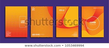Groene oranje goede kunst talent ontwerp Stockfoto © maxmitzu