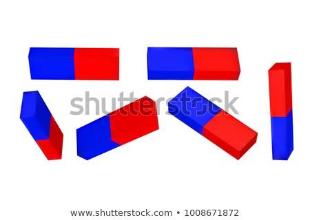 3D piros kék mágnes illusztráció izolált Stock fotó © tuulijumala