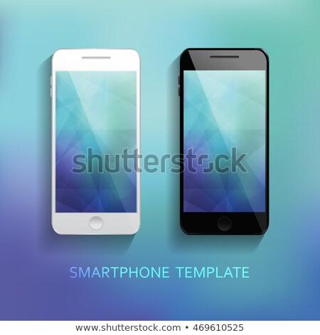 smartphone realistic collection set of elegant modern style mockups Stock photo © DavidArts