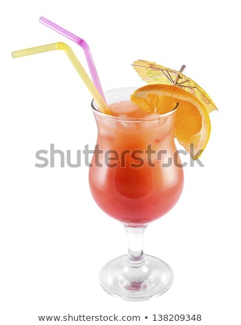 Ice Cold Mai Tai Cocktail Drink with Fruit and Umbrullas Stock photo © feverpitch