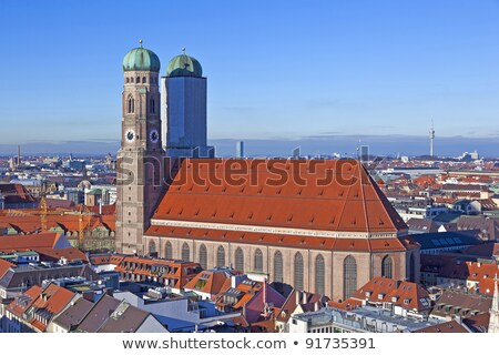 munich with frauenkirche in beautiful weather stock photo © meinzahn