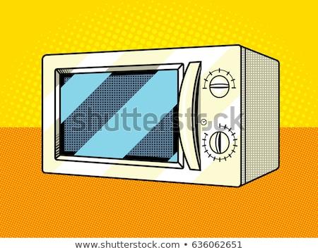 Cômico desenho animado microonda retro estilo Foto stock © lineartestpilot