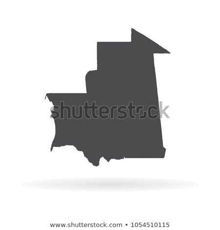 Silhouette carte Mauritanie signe blanche Photo stock © mayboro