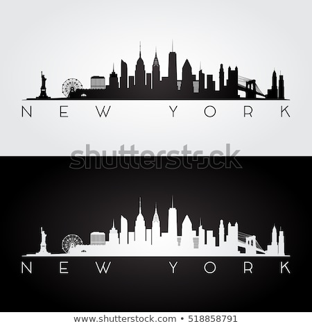 Manhattan · Skyline · моста · желтый · такси · Нью-Йорк - Сток-фото © cla78