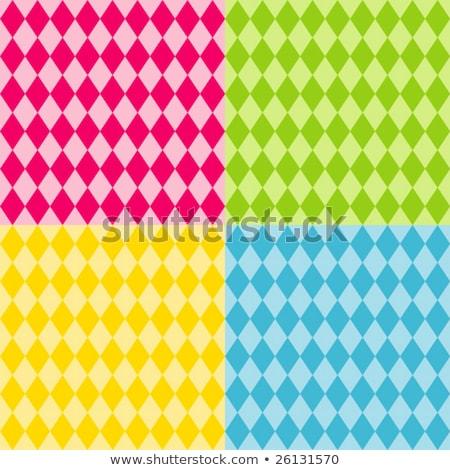 Multicolored diamond shape tiles seamless illustration. Stock photo © latent