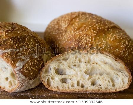 Kenyér szezámmag izolált fehér egészség szendvics Stock fotó © OleksandrO