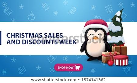 christmas discount purple vector icon button stock photo © rizwanali3d