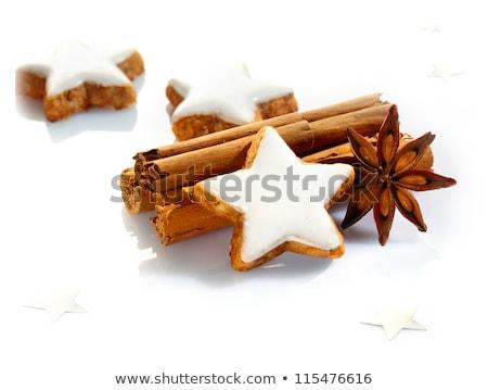 корицей · печенье · продовольствие · фон · белый · Рождества - Сток-фото © rob_stark