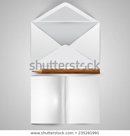 Escrito comunicación ilustración clipart lápiz bocadillo Foto stock © kgtoh