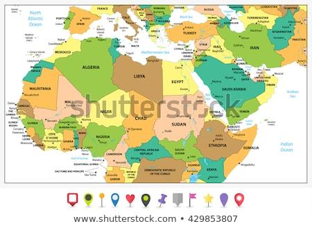 高い 詳しい ベクトル 地図 モーリタニア ナビゲーション ストックフォト © tkacchuk