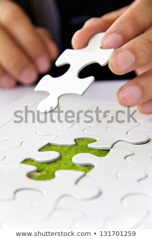 エコ ジグソーパズル 行方不明 ピース 明るい 緑 ストックフォト © tashatuvango