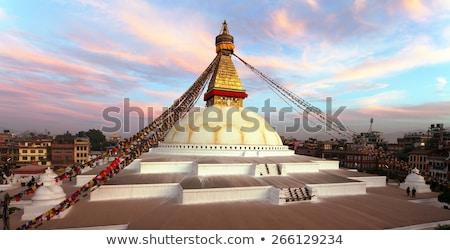 ponto · de · referência · branco · tibete · histórico · blue · sky · edifício - foto stock © smithore
