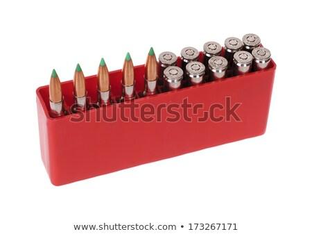 Isolated 30-06 bullets on white Stock photo © njnightsky