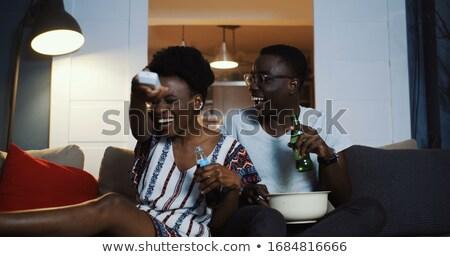 ストックフォト: を見て · 映画 · 映画 · 女性 · 幸せ