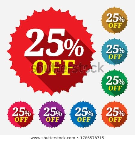 save 25 percent red vector icon design stock photo © rizwanali3d