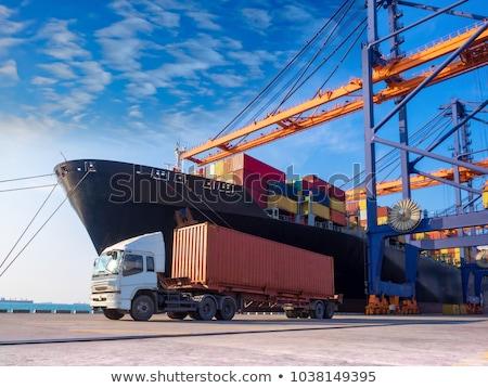 промышленных морем порта крана груза красочный Сток-фото © stevanovicigor