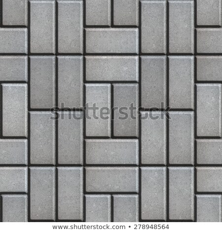 Gray Pave Slabs Rectangles Laid out in a Chaotic Manner. Stock photo © tashatuvango