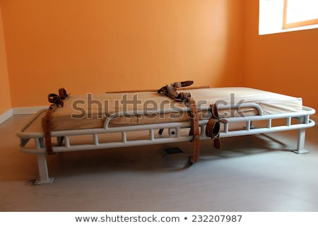 Bed for restraining psychiatric patiens Stock photo © michaklootwijk