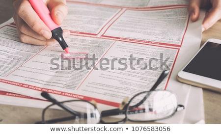 Jobs in newspaper Stock photo © leonardo