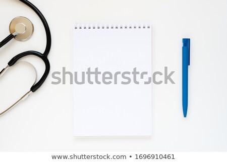 férfi · ír · jegyzettömb · magasról · fotózva · kilátás · üzletember - stock fotó © wavebreak_media