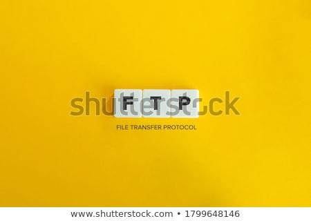 Ftp woord wereldbol abstract ontwerp technologie Stockfoto © fuzzbones0