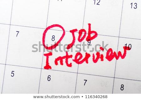 sollicitatiegesprek · dagboek · sticky · note · kantoor - stockfoto © fuzzbones0