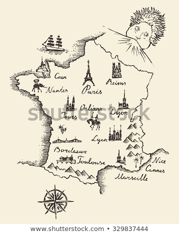 firka · térkép · város · terv · vidék · modern - stock fotó © ojal