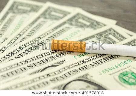 Dohány adó cigaretta pénz fehér fekete Stock fotó © joker