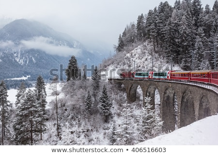 Typical view of the Swiss alps Stock photo © michaklootwijk