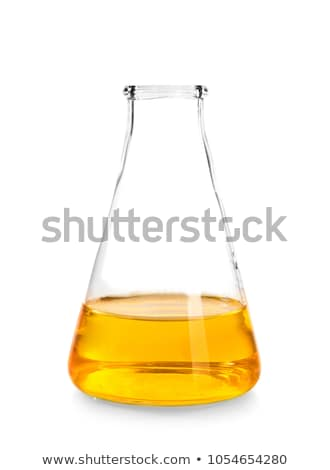 Erlenmeyer flask with yellow solution Stock photo © ozaiachin