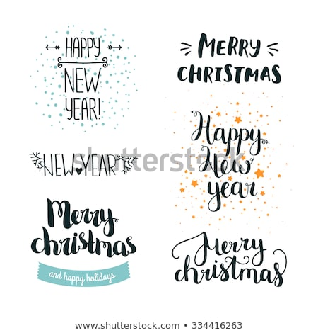 Happy New 2016 Year invitation postcard, vector illustration Stock photo © carodi