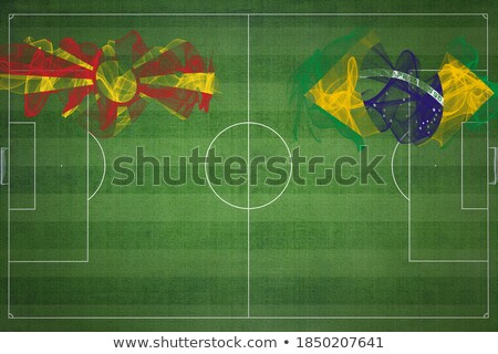 Brazil and Macedonia Flags  Stock photo © Istanbul2009