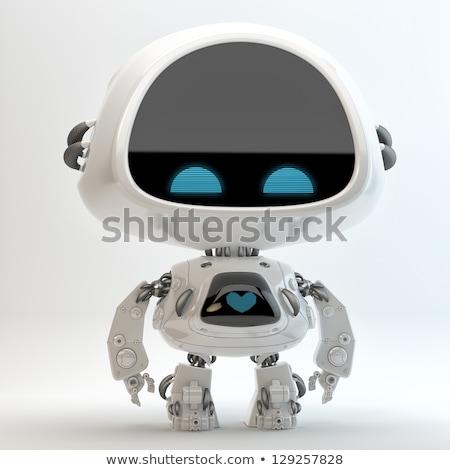 zoete · weinig · robot · hoofd · detail · man - stockfoto © magann