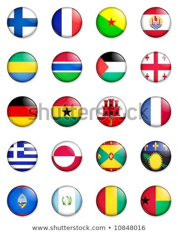 Germania francese polinesia bandiere puzzle isolato Foto d'archivio © Istanbul2009