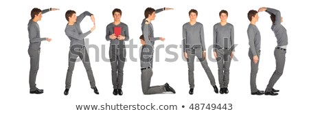 young man making word FRIEND, collage stock photo © Paha_L