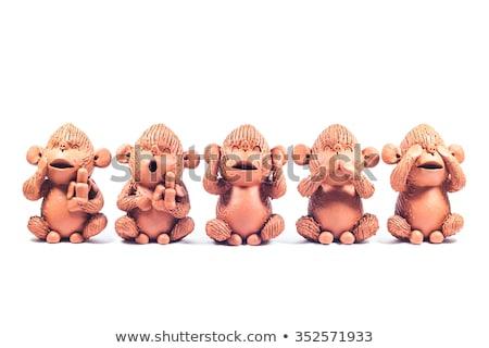 Aap klei pop geïsoleerd witte Stockfoto © punsayaporn