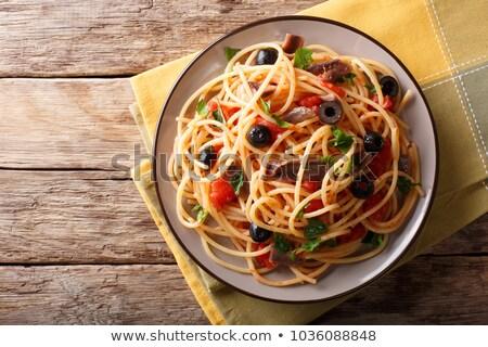 деревенский итальянский спагетти пасты никто Сток-фото © zkruger