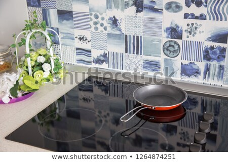 Induction cooktop and frying pan Stock photo © magraphics