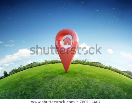 3D real estate icon Stock photo © djdarkflower