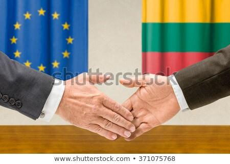 Eu Litwa Shake Hands ręce strony spotkanie Zdjęcia stock © Zerbor