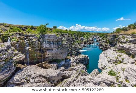 реке каньон Черногория пород кристалл воды Сток-фото © Steffus