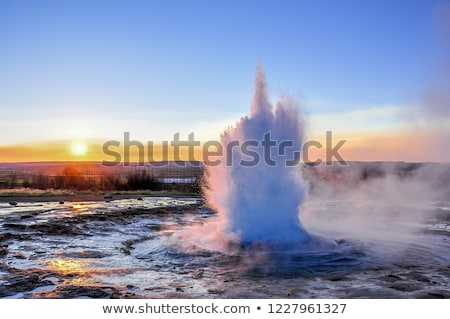 Erupting geyser at Geysir, Iceland Stock photo © TanArt