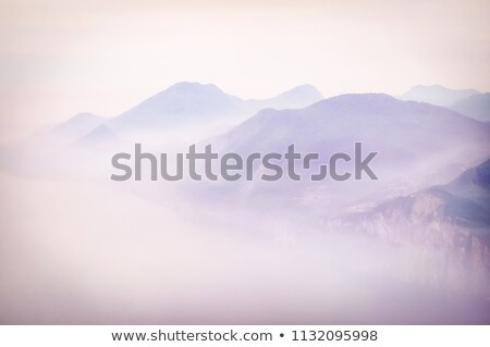 Stock photo: Hazy morning on the coast