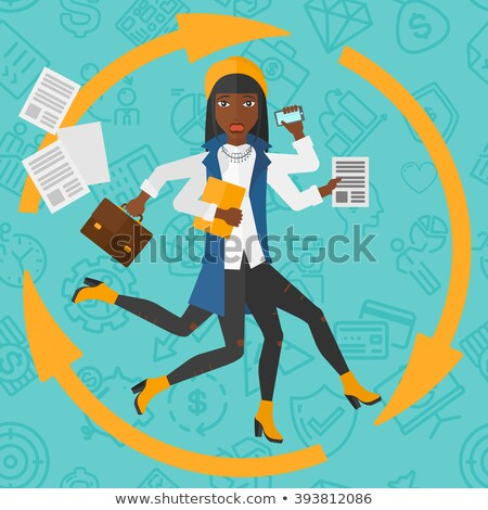 woman coping with multitasking stock photo © rastudio