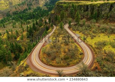 Oude snelweg kuif lus rivier weg Stockfoto © davidgn
