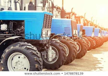 Bleu nouvelle tracteur agricole machines isolé Photo stock © orensila