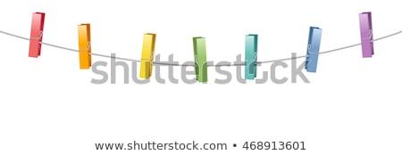 одежды · белый · различный · цветами · древесины - Сток-фото © stockfrank